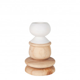 Bougeoir en bois - Petit modèle