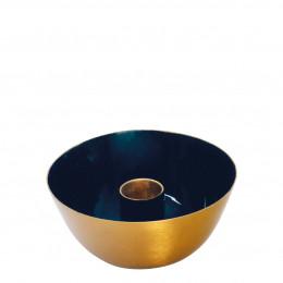 Bougeoir en métal bleu - Petit modèle