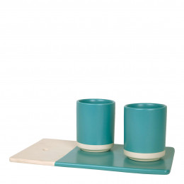 Coffret Pause gourmande bleu turquoise