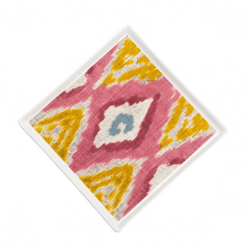 Grand vide-poche carré Ikat