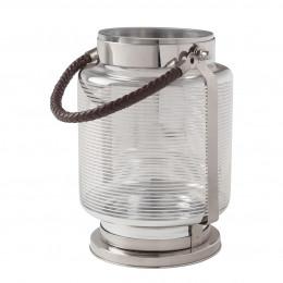 Lanterne argentée rayée - Petit modèle