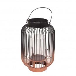 Lanterne métal bicolore bronze - Petit modèle
