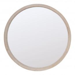 Miroir rond bois Natura