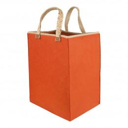 Panier en feutre orange