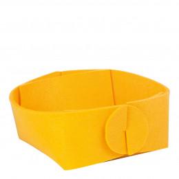 Panière en feutre jaune